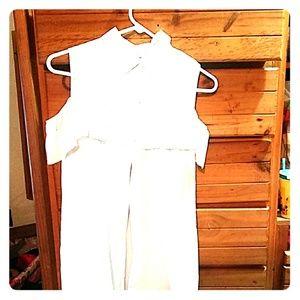 Charlotte Russe button dwn off shoulder dress